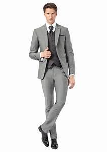 Costume Pour Homme Mariage : costume gris mariage costume de mari gris avec gilet pour homme jean de sey complet ~ Melissatoandfro.com Idées de Décoration