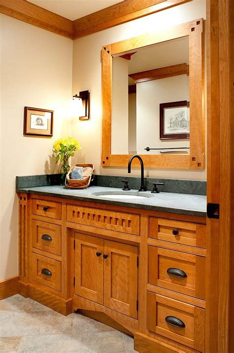 custom bathroom vanities ideas mullet cabinet mission style bath accentuated with