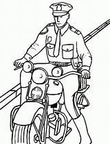 Police Coloring Officer Motorcycle Clipart Moto Colorir Policial Desenho Hat Policeman Cop Desenhos Motor Tudodesenhos Lego Kleurplaat Clip Riding Printable sketch template
