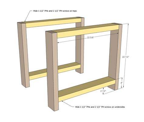 free simple end table plans ana white rustic x end table diy projects