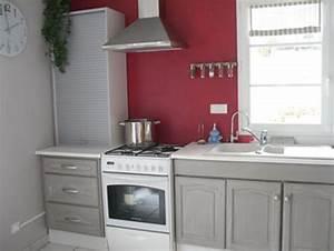 idee peinture cuisine meuble blanc maison design bahbe With meuble cuisine gris clair