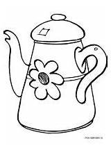 Kettle Coloring Printable Recommended Mycoloring sketch template
