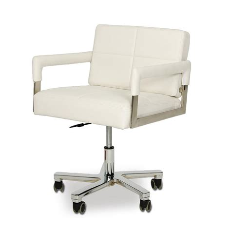 modern desk chairs vig modrest alaska modern white leather office chair