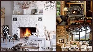 25, Interior, Stone, Fireplace, Designs