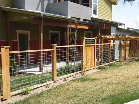 fences for yards yard fence ideas mix of hog wire fencing and wood panels