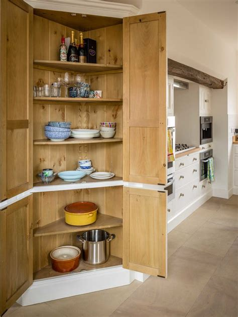 tall corner pantry cabinet houzz