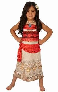 Girls Deluxe Moana Costume Disney Hawaiian Princess Fancy ...
