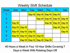 10 hour shift schedule templates for 10 hour shift templates