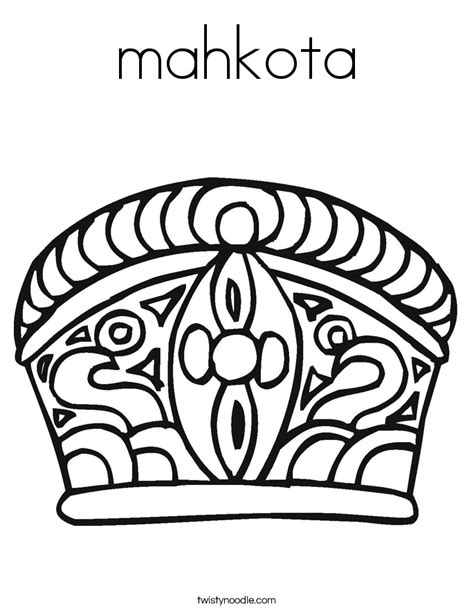 Crown King Mahkota Raja Bandana mahkota coloring page twisty noodle
