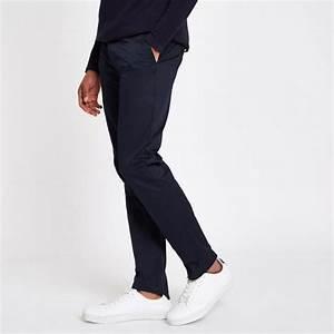 Pantalon Bleu Marine Homme : homme pantalon chino bleu marine coupe slim marine river ~ Melissatoandfro.com Idées de Décoration