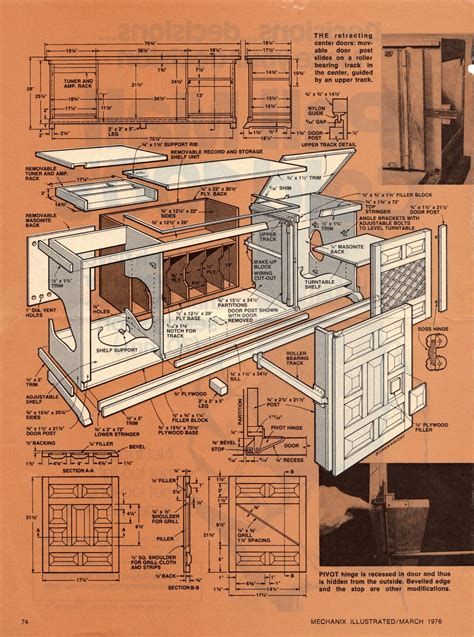 woodworking plans plans  stereo cabinet  plans