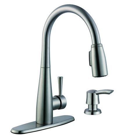 glacier bay kitchen faucets glacier bay 900 series single handle pull sprayer