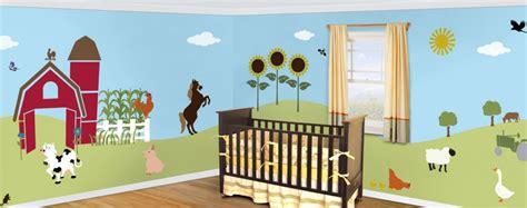 Kinderzimmer Wandgestaltung Bauernhof by Friendly Farm Theme Wall Mural Stencil Kit