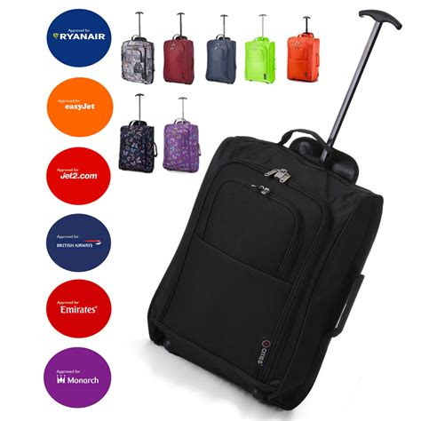 Wizzair Large Cabin Bag Weight by Lightweight 55cm 21 Quot Luggage Trolley Bag Cabin Flight
