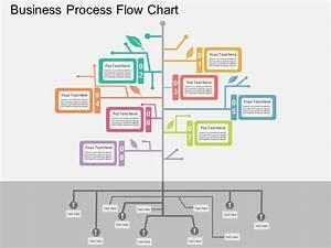 Business Process Flow Chart Flat Powerpoint Design