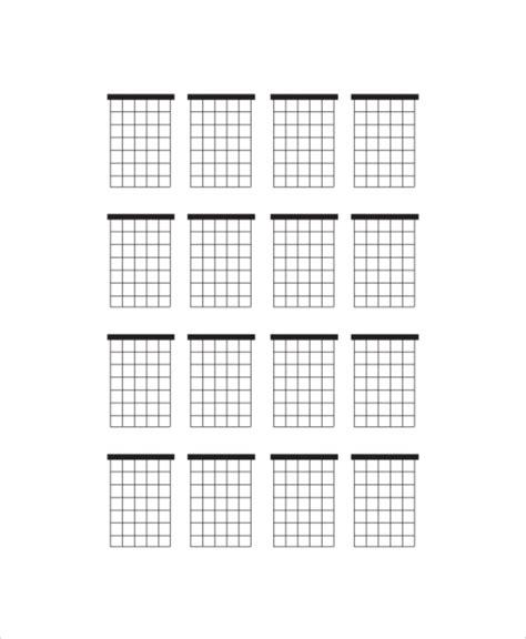 Blank Guitar Chord Charts Free Sample Example