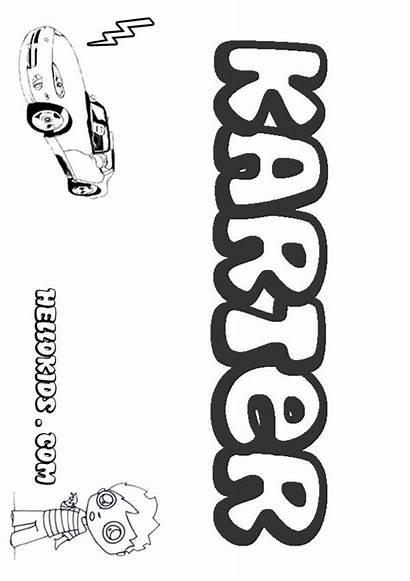 Karter Trent Coloring Darren Pages Names Boy