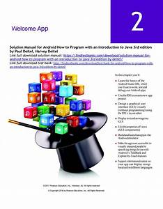 Solution Manual For Android How To Program With An