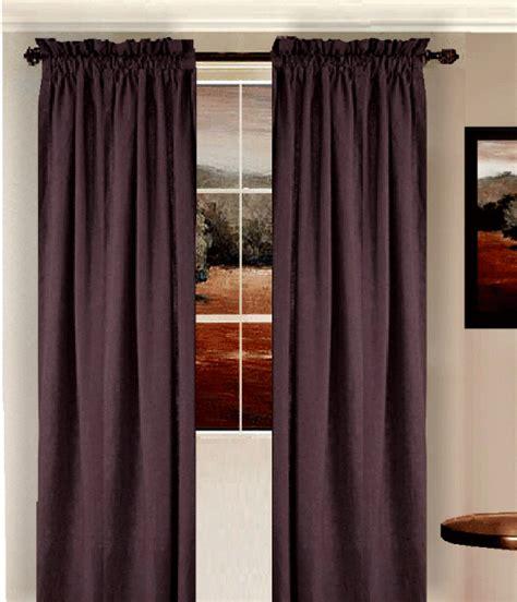 eggplant purple curtain set