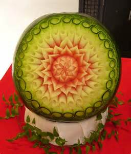 Watermelon Flower Carving
