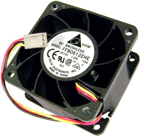 delta 12v dc 1 20a 60x38mm 3 wire fan ffb0612ehe f00 3 brushless