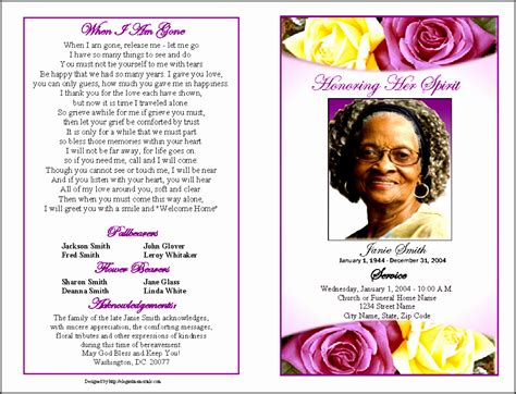 printable obituary template sampletemplatess