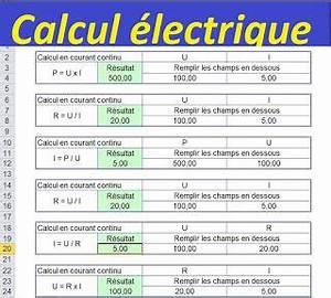 Calcul Consommation Electrique Maison : calcul lectrique avec excel cours de genie civil ~ Premium-room.com Idées de Décoration