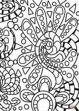 Coloring Abstract Doodle Pages Printable Doodles Books Drawing Paper Games Dot Adults Categories sketch template