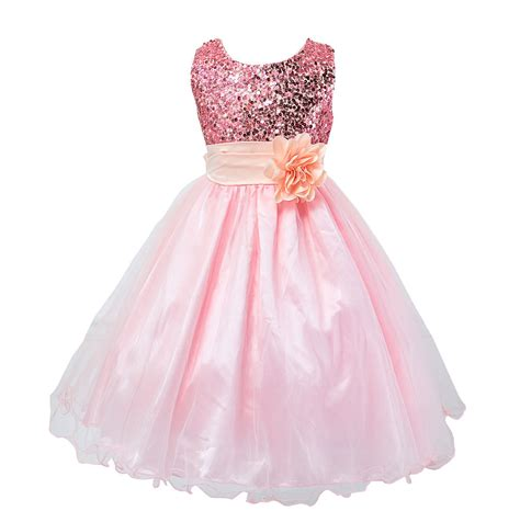 Infant Toddler Pageant Cute Princess Girls Sequins Flower