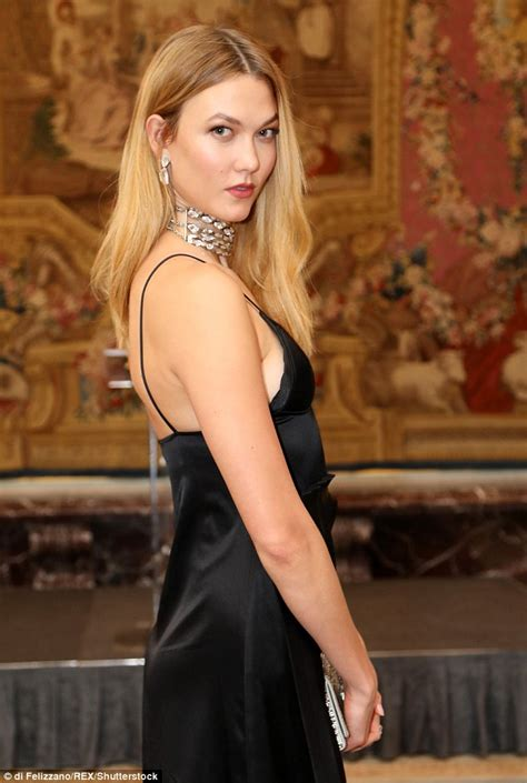 Karlie Kloss Glams Plunging Black Dress Pfw