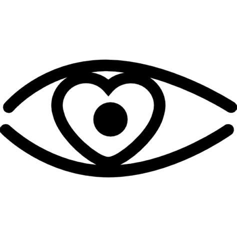 telecharger icone bureau gratuit contour des yeux à iris en forme de cœur télécharger