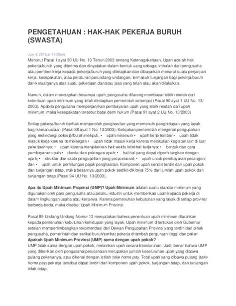 Uu Nomor 13 Tahun 2013 Tentang Ketenagakerjaan Mengatur - Ini Aturannya
