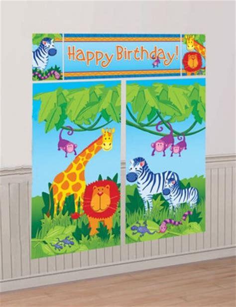 decoration animaux de la jungle d 233 coration anniversaire animaux de la jungle mister