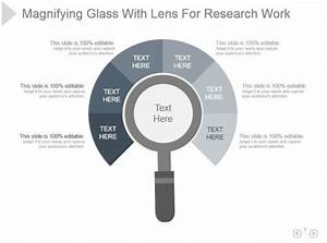 Magnifying Glass With Lens For Research Work Presentation