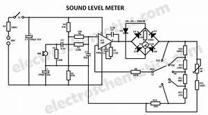 sound level meter circuit With three leds audio level indicator circuit schematic diagram