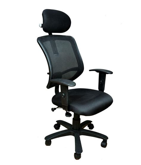Office Chairs For Back by High Back Office Chair With Adjustable Rest Arms In
