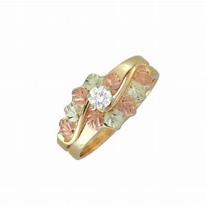 10k black hills gold ladies 17tw diamond engagement ring With black hills wedding rings