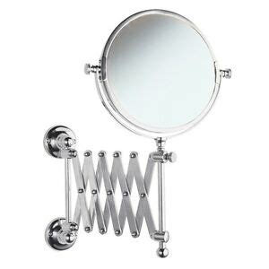 Extending Bathroom Mirrors by Wall Mounted Extending Chrome Bathroom