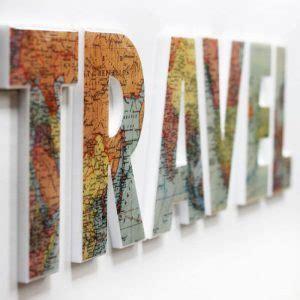 decoupage map travel wall sign homebnc