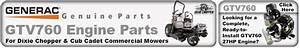 Generac Gtv760 Engine Parts