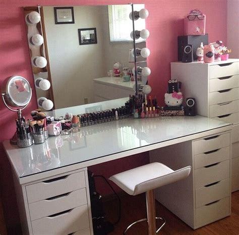 Linnmon Alex Table  Makeup Vanity Chair  Salon Ideas