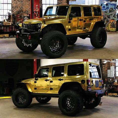 sick jeep rubicon sick gold wrapped jeep what are your thoughts