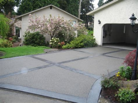 concrete driveway designs walkers concrete llc exposed aggregate concrete exposed aggregate concretedriveways patios