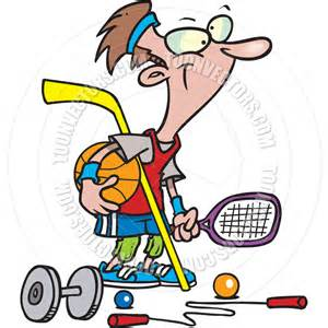 Cartoon Person Playing Sports