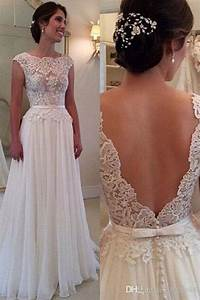 2016 elegant a line wedding dress with backless bateau With how to store a wedding dress