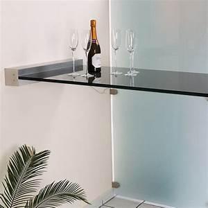 Stehtisch Mit Hocker : glas stehtisch freitragend mit wandklemmleiste glasprofi24 ~ Markanthonyermac.com Haus und Dekorationen