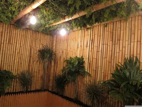 foot rolled bamboo fencing natural color