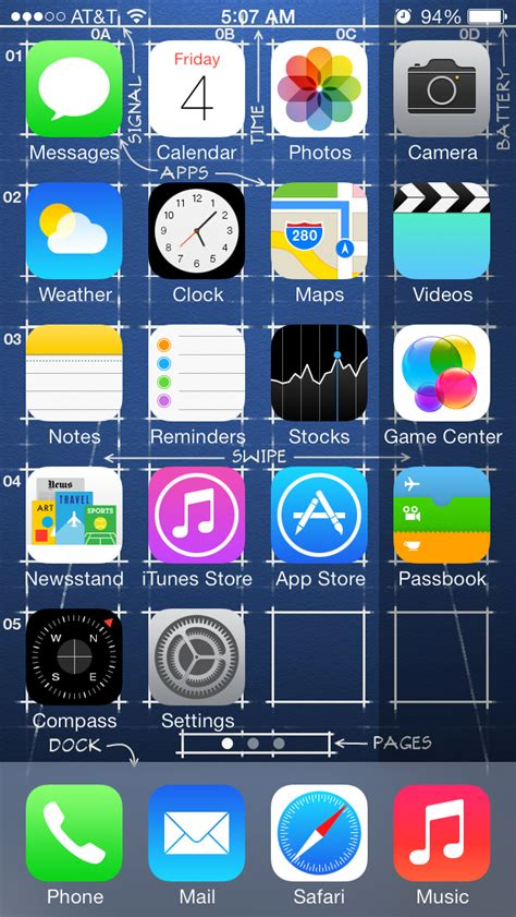 how to take a screenshot on iphone 5 iphone 5 s ios 7 blueprint screenshot 640x1136 by