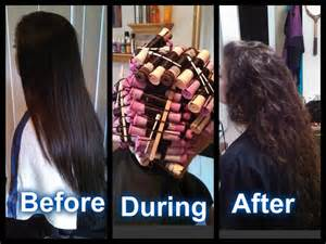 Long Hair Body Wave Perm Before and After