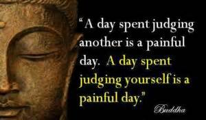 buddha quotes judging others